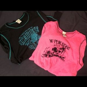 Old Navy Long Sleeve Graphic Tee Lot Plus Size XXL